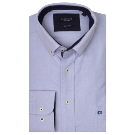 Giordano Hemd Button-Down - Light Blue