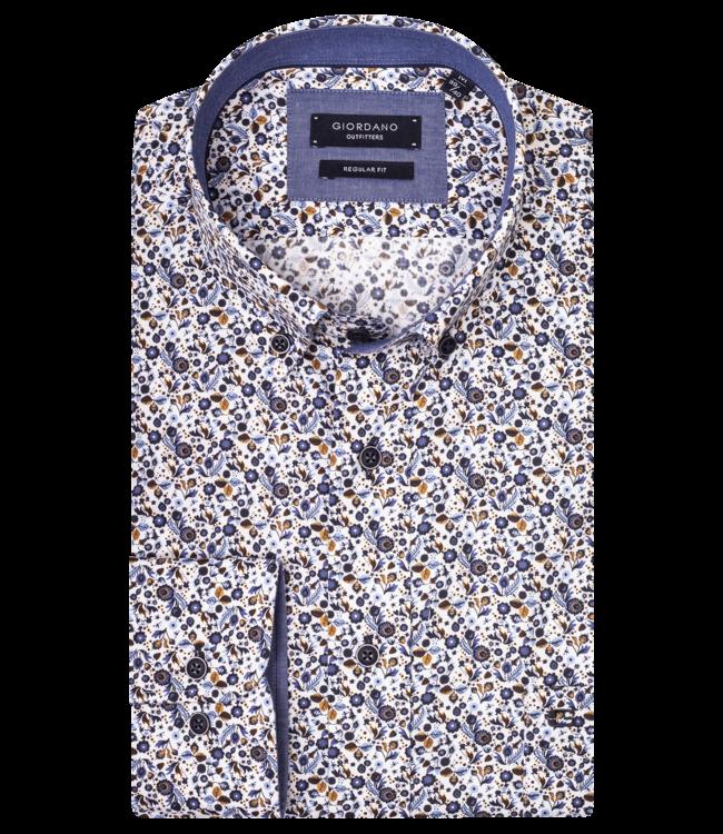 Giordano Hemd mit Blumen - Dark Navy