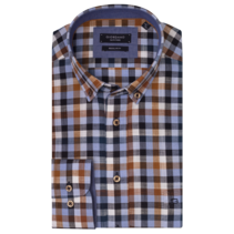 Shirt with Checkered Print - Multicolor