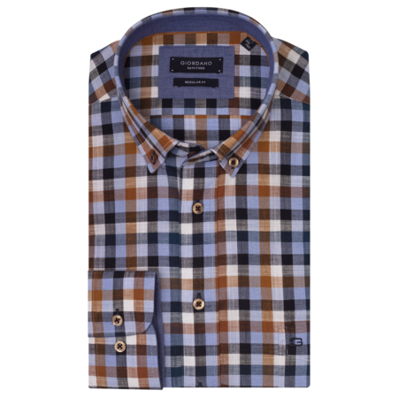 Giordano Shirt with Checkered Print - Multicolor