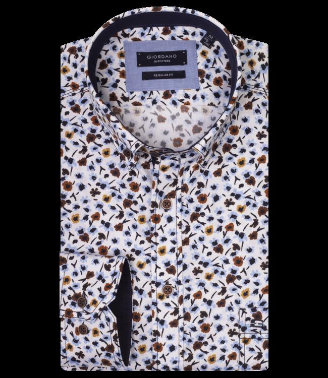 Giordano Overhemd met Bloem - Yellow