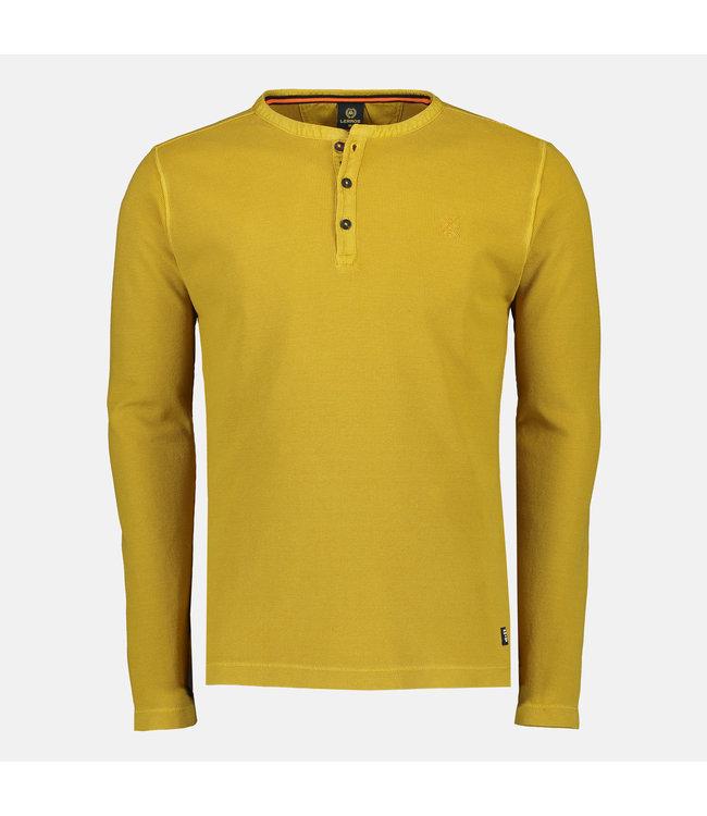 Lerros Longsleeve Serafino - Chai Tee Yellow