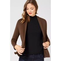 Soft Jersey Cardigan - Otter Brown