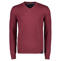 V-Hals Pullover - Winter Berry Melange