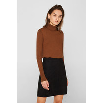 Skirt in Imitation Suede Look - Black