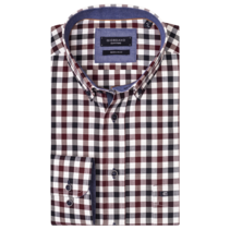 Shirt with Check - Dark Navy