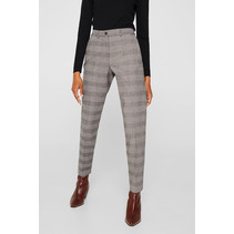 Checkered Chino Pants - Taupe