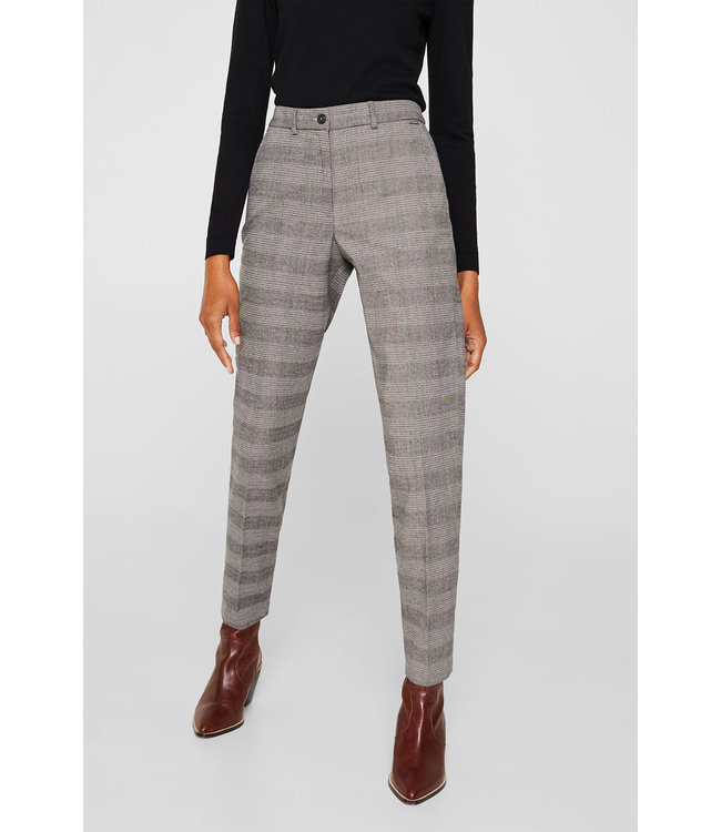 Esprit Checkered Chino Pants - Taupe