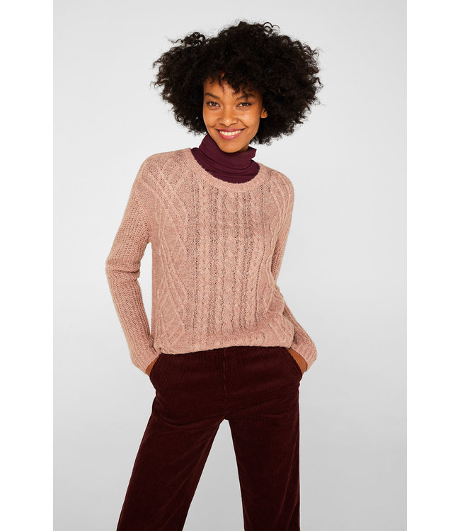 Esprit With Wool/Alpaca Structured Pullover - Mauve
