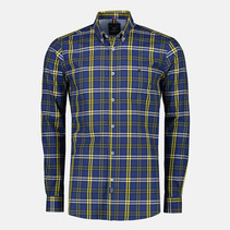 Geruit Twill Overhemd - True Blue