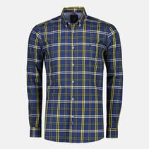 Karo-Hemd aus Twill - True Blue