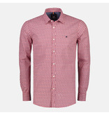 Lerros Shirt with Crochet Print - True Red