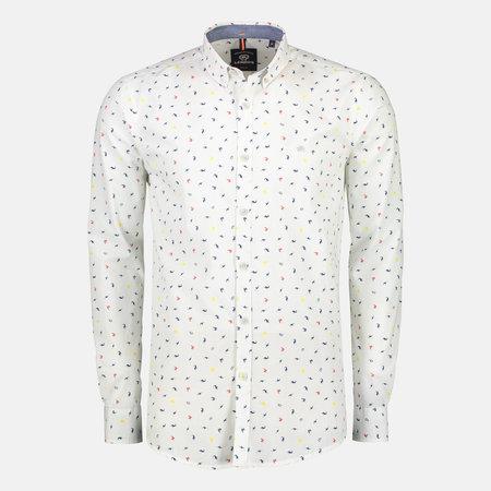Lerros Hemd mit Minimal-Print - Silver
