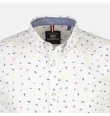 Lerros Overhemd Minimal Print - Silver