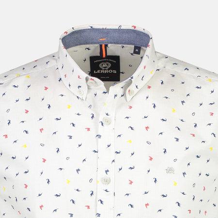 Lerros Shirt with Minimal Print - Silver
