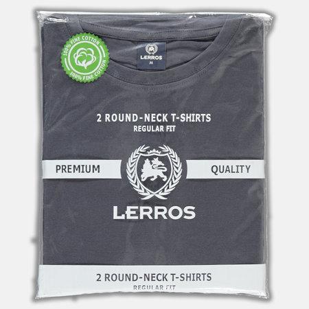 Lerros Two-Pack T-shirts (Round Neckline) - Rock Grey