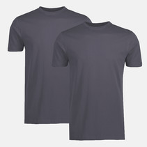 Doppelpack T-Shirt Rundhals - Rock Grey