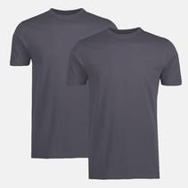 Two-Pack T-shirts (Round Neckline) - Rock Grey