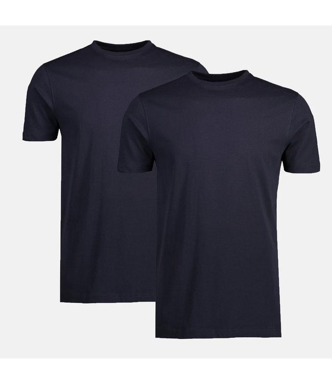 Lerros Doppelpack T-Shirt Rundhals - Night Blue