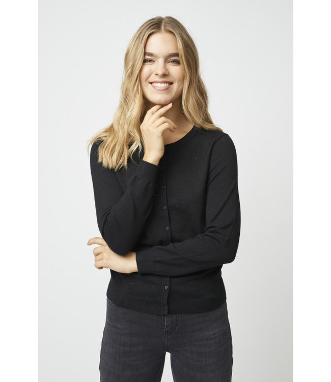 Soyaconcept Cardigan Dollie 644 with Glitter - Black