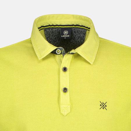 Lerros Langarm Piqué Poloshirt - Wild Lime