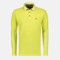 Long Sleeve Polo Shirt Piqué - Wild Lime