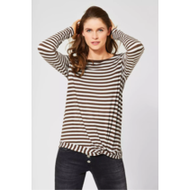 Shirt with Stripes - Caramel Brown