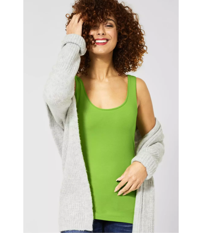 Street One Basic Top Anni - Flash Lime