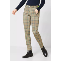 Checkered Pants York - Easy Camel