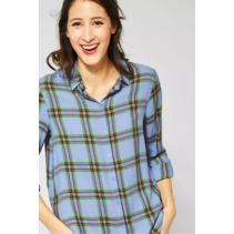Blouse with Check - Heaven Blue