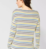 Cecil Sweater with Stripes - Pure Off White