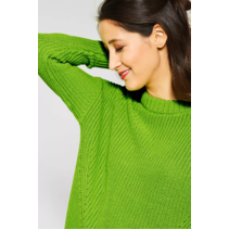 Knitted Sweater in Striking Color - Flash Lime