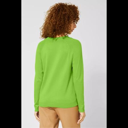 Street One Unifarbener Pullover Gundi - Flash Lime