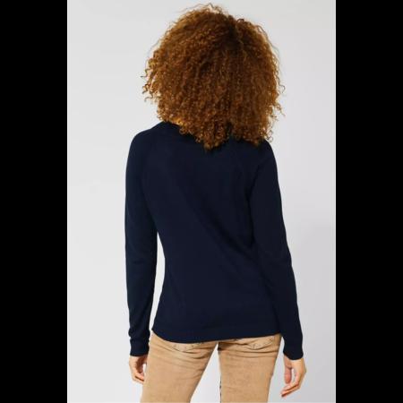 Street One Unifarbener Pullover Gundi - Deep Blue