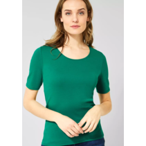 Organic Halbarmshirt Lena - Lucky Clover Green