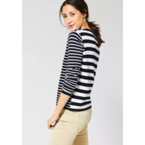Sweater with Stripes Hilde - Deep Blue