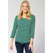Shirt with Structured Stripes - Lucky Clover Green