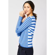 Sweater with Stripes Hilde - Spring Blue