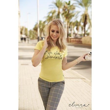 Elvira Collections Broek Kirsten - Squares Yellow