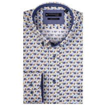 Shirt Button-Down with Print - Yellow