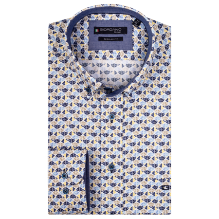 Giordano Overhemd Buttown-Down met Print - Yellow