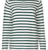 Cecil Pullover with Stripes - Pure Off White