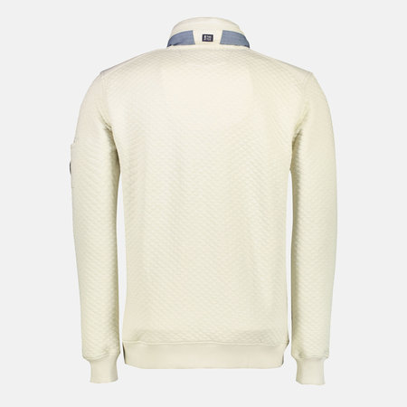 Lerros Sweatcardigan with Structure - Off White