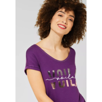 Shirt with Text - Fairy Violet