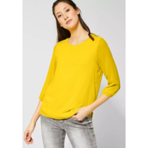 Shirt Jacinda with Layer-Look - Shiny Yellow