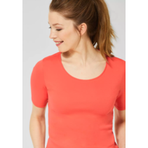 Organic Shirt Lena - Tangerine Orange