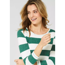 Shirt with Stripe - Clover Green Melange