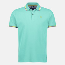 Poloshirt with Contrast-Details - Jade Green