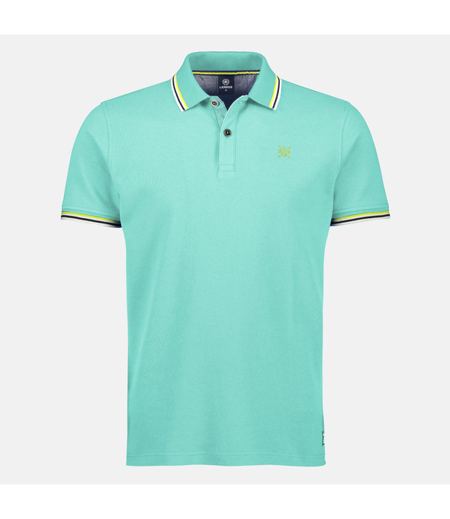 Lerros Poloshirt with Contrast-Details - Jade Green