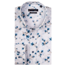 Shirt with Short Sleeves and Print - White